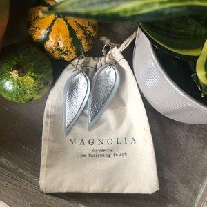 Magnolia Market Double Leaf Leather Earings